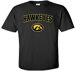 HAWKEYES WITH TIGERHAWK - BLACK  T-SHIRT