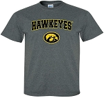 HAWKEYES WITH TIGERHAWK - DARK GREY  T-SHIRT