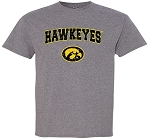 HAWKEYES WITH TIGERHAWK - MEDIUM GREY T-SHIRT