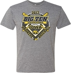 2017 IOWA BASEBALL B1G TOURNAMENT CHAMPS - MEDIUM GREY