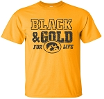 BLACK & GOLD FOR LIFE - GOLD T-SHIRT