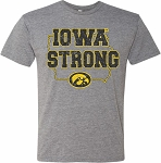 IOWA STRONG in STATE of IOWA - MEDIUM GREY T-SHIRT