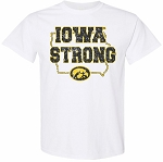 IOWA STRONG in STATE of IOWA - WHITE T-SHIRT