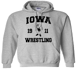 Iowa Wrestling 1911 - Light Grey Hooded Sweatshirt