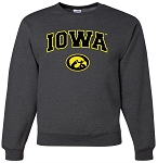 IOWA - DARK GREY CREW SWEATSHIRT