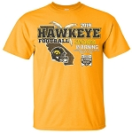 2019 Holiday Bowl Iowa Hawkeyes - Gold T-shirt