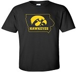 TIGERHAWK HAWKEYES IN STATE - BLACK T-SHIRT
