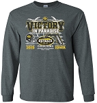 Victory in Paradise 2019 Outback Bowl Champs - Dark Gray Long Sleeve