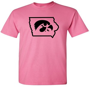TIGERHAWK IN STATE OF IOWA - AZALEA PINK T-SHIRT