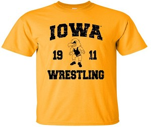 IOWA WRESTLING 1911 - GOLD T-SHIRT - YOUTH