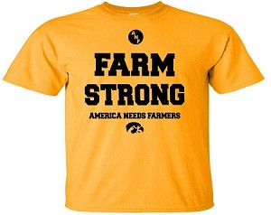 FARM STRONG - AMERICA NEEDS FARMERS - GOLD T-SHIRT