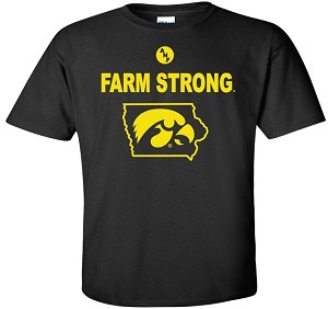 FARM STRONG HAWK IN STATE - BLACK T-SHIRT