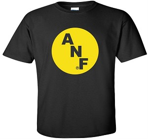 BIG ANF LOGO - BLACK T-SHIRT