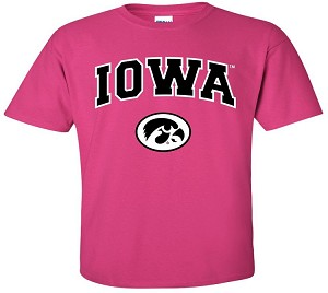 IOWA HOT PINK T-SHIRT
