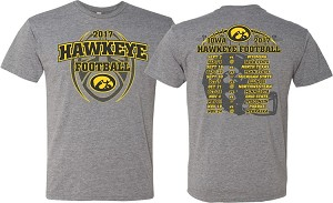 2017 IOWA FOOTBALL SCHEDULE SHIRT