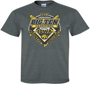 2017 IOWA BASEBALL B1G TOURNAMENT CHAMPS - DARK GREY