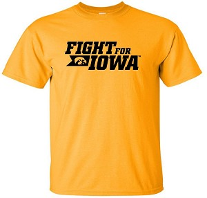 FIGHT FOR IOWA - GOLD  T-SHIRT