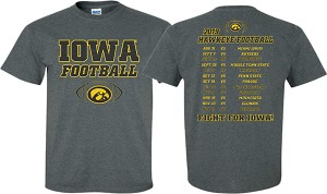 2019 Iowa Football Schedule - Dark Gray