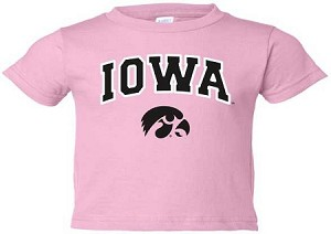 IOWA WHITE OUTLINE PINK T-SHIRT - INFANT-TODDLER