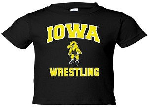 IOWA WRESTLING BLACK T-SHIRT - INFANT/TODDLER