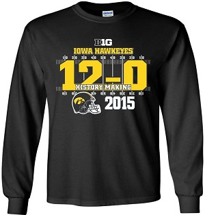 12-0 IOWA FOOTBALL - BLACK LONG SLEEVE SHIRT
