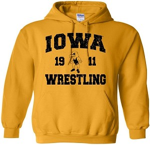 Iowa Wrestling 1911 - Gold Hooded Sweatshirt