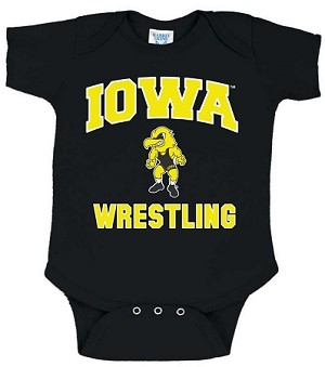 Iowa Wrestling - Black Onesie