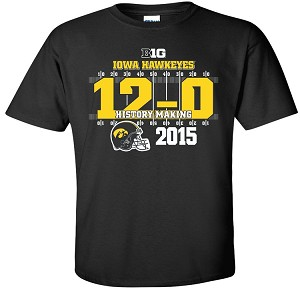 12-0 IOWA FOOTBALL - BLACK T-SHIRT - YOUTH