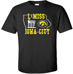 I MISS IOWA CITY - BLACK  T-SHIRT