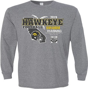 2019 Holiday Bowl Iowa Hawkeyes - Mid Grey Long Sleeve