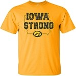 IOWA STRONG in STATE of IOWA - GOLD T-SHIRT